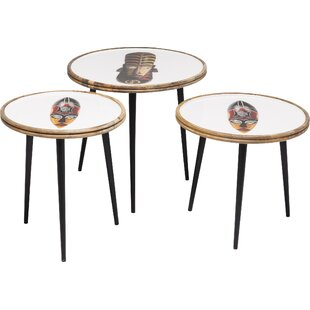 African Masks 3 Piece Nest Of Tables By KARE Design