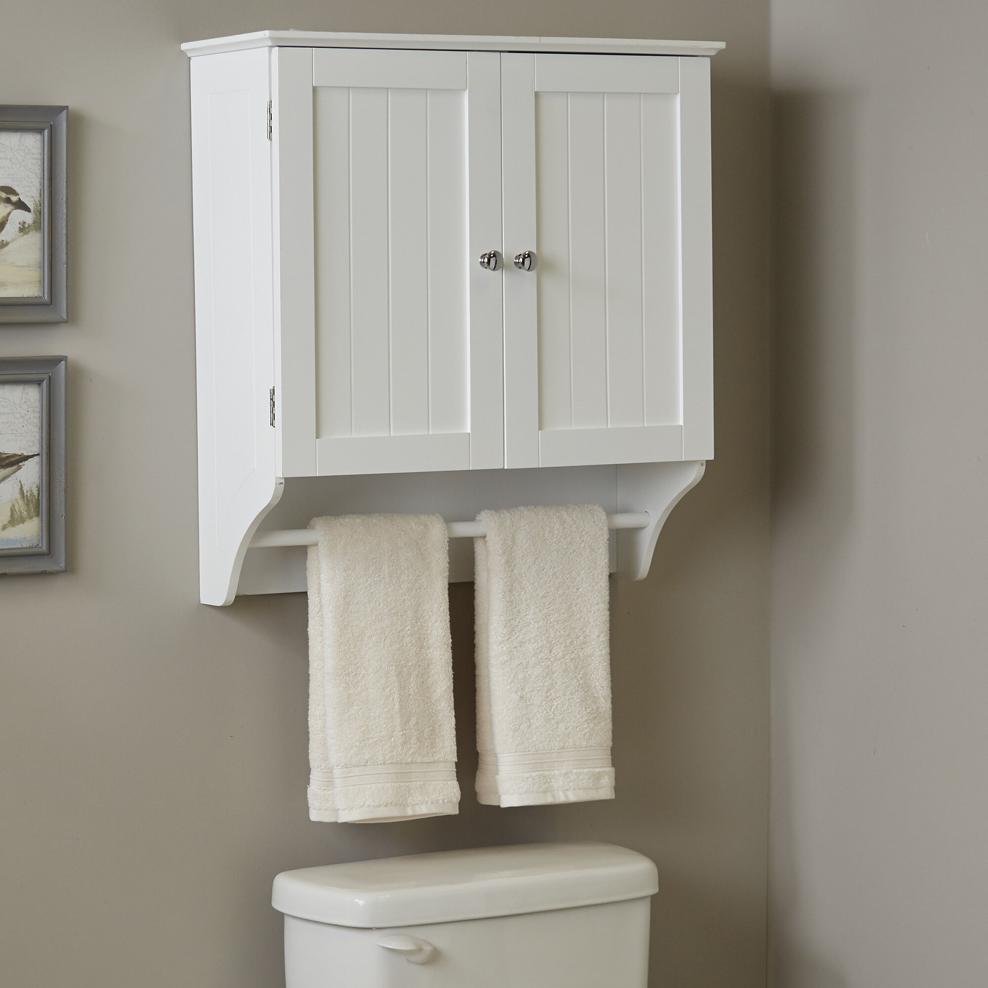 """Andover Mills Arledge 24"""" W x 25"""" H Wall Mounted Cabinet & Reviews 