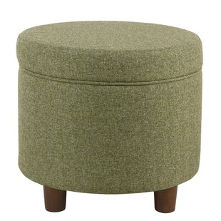 Hilbert Round Storage Ottoman by Wrought Studio