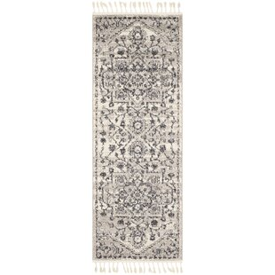 Reviews Kenley Distressed Taupe/Charcoal Area Rug By Ophelia & Co.