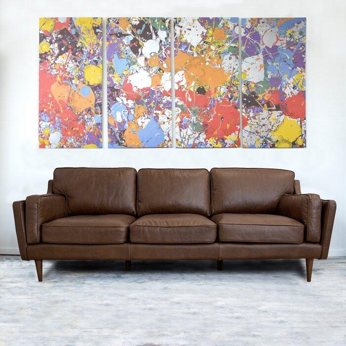 Tremendous Warren Mid Century Modern Leather Sofa Uwap Interior Chair Design Uwaporg