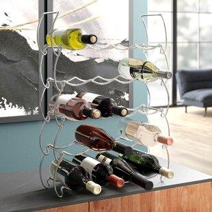 Stack Rack Chrome Five-Tier Blaise 20 Bottle Wine Rack By Symple Stuff
