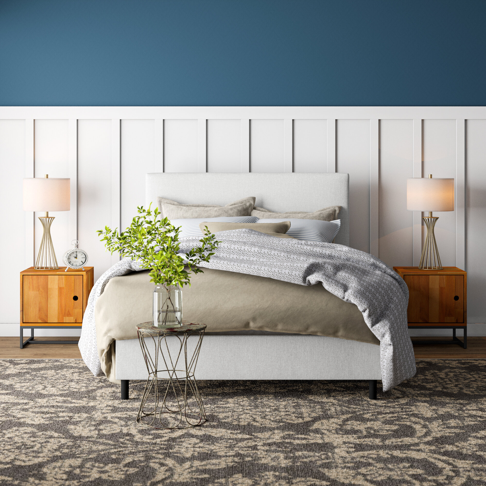 Picture of: Galla Upholstered Low Profile Bed Reviews