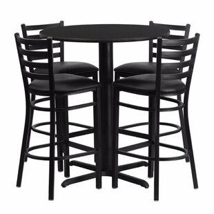 Prentice 5 Piece Pub Table Set Red Barrel Studio