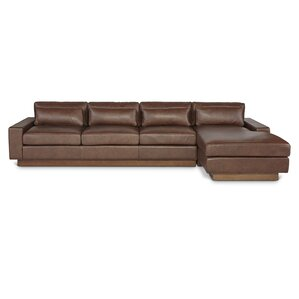 Dunn Leather Sectional by Passport Home