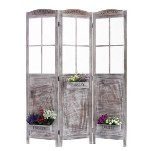 Flower Pot Garden 3 Panel Room Divider