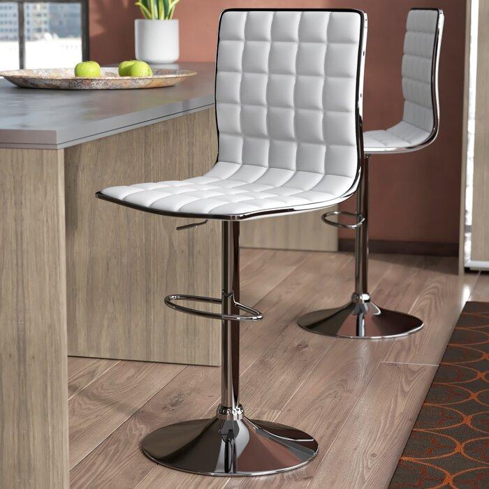 Marvelous Iancarlo Adjustable Height Bar Stool Machost Co Dining Chair Design Ideas Machostcouk