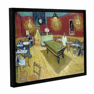 'The Night Café In The Place Lamartine In Aries' by Vincent Van Gogh Framed Painting Print on Wrapped Canvas by Charlton Home