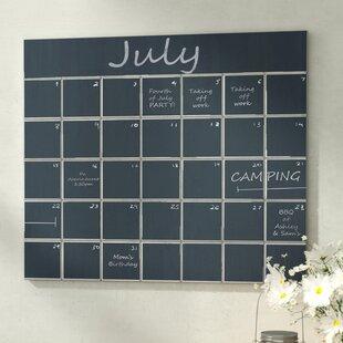 Charmant Calendar Wall Mounted Chalkboard
