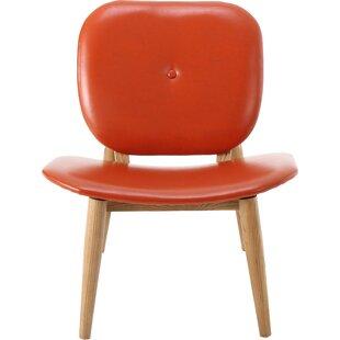 Leather Orange Chair Wayfair
