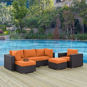 Ryele 6 Piece Outdoor Patio Sectional Set with Cushions