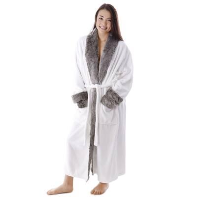 4591c97a81 Frederic Luxury Cotton Blend Plush Bathrobe