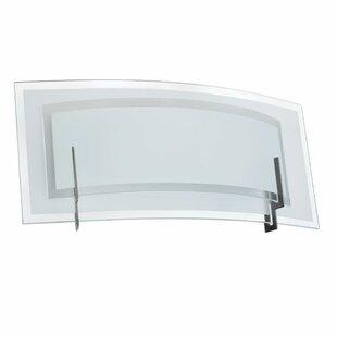 Latitude Run Genny Clear/Frosted Glass 1-Light Bath Bar