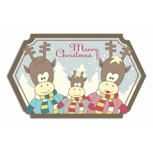 Merry Christmas, Reindeer Wall Sticker By East Urban Home