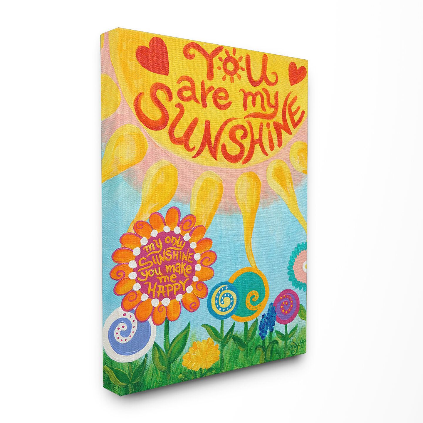 Harriet Bee Toby You Are My Sunshine Canvas Wall Art & Reviews | Wayfair