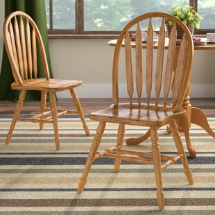 Lockwood Arrow Back Solid Wood Dining Chair (Set Of 2) by Loon Peak Amazing