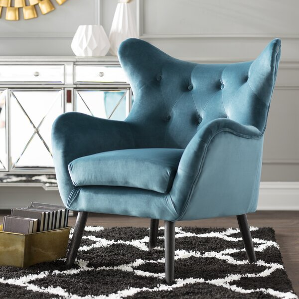 Beau Wingback Chair Teal   Wayfair