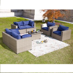 Miraculous Wragby 7 Piece Outdoor Sectional Set Rattan With Cushions Cjindustries Chair Design For Home Cjindustriesco