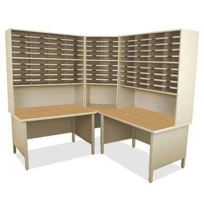 100 Compartment Mailroom Organizer Marvel Office Furniture Finish Silver