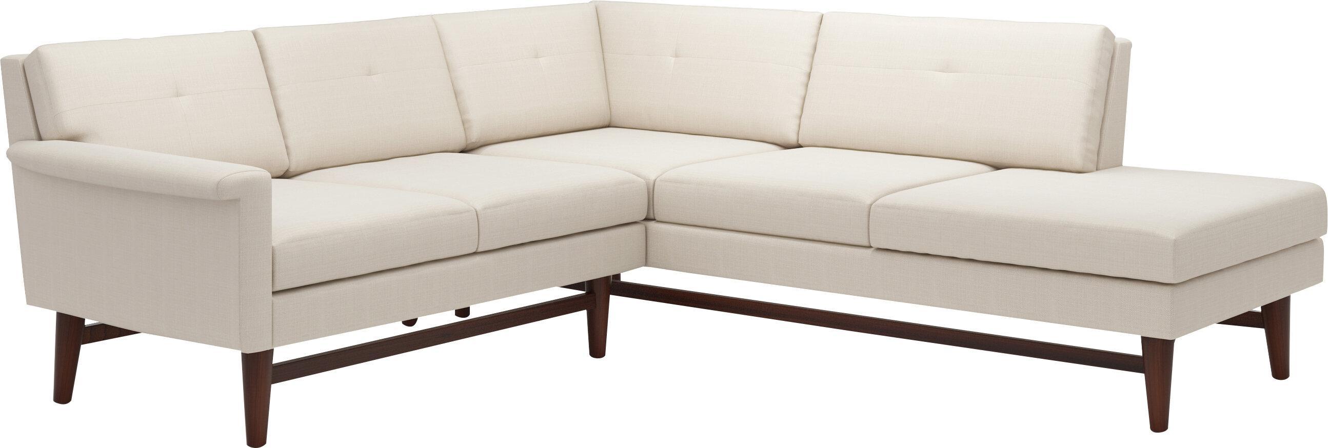 Superbe TrueModern Diggity Corner Sectional Sofa With Bumper | Wayfair