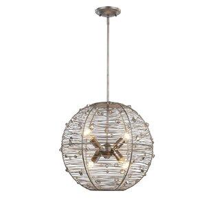 Willa Arlo Interiors Hermione 4-Light Globe Chandelier