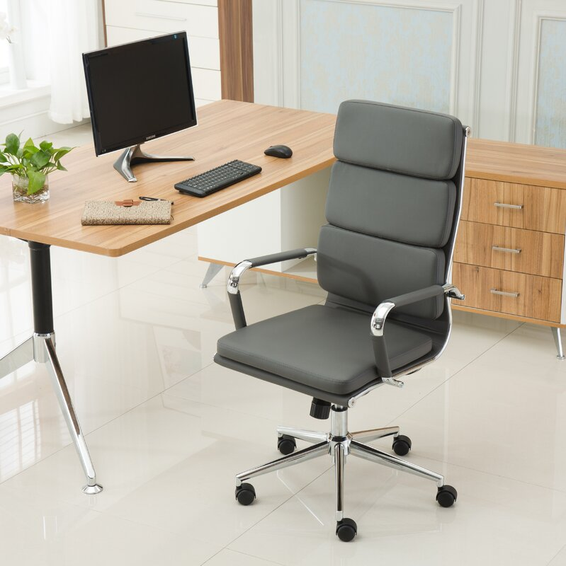 Modica Contemporary High Back Office Desk Chair