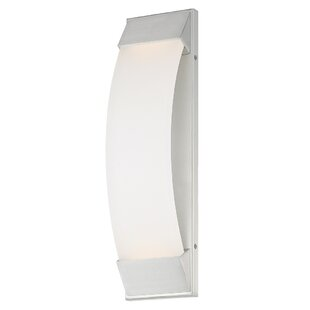 Reviews Roenker 1-Light LED Outdoor Sconce By Orren Ellis
