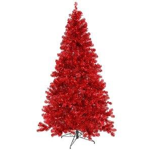 red christmas trees youll love wayfair - Red Christmas Tree Lights