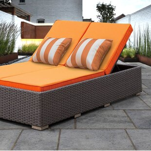 Lulsgate Double Chaise Lounge with Cushion by Wrought Studio