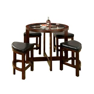 Fellman 5 Piece Counter Height Dining Table Set