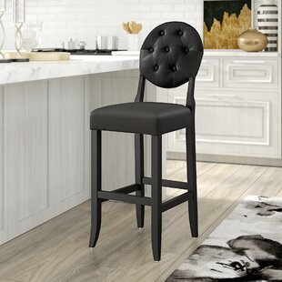 Willa Arlo Interiors Courtnay Traditional 29 Square Seat Bar Stool