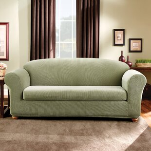 Stretch Madison Box Cushion Sofa Slipcover by Sure Fit