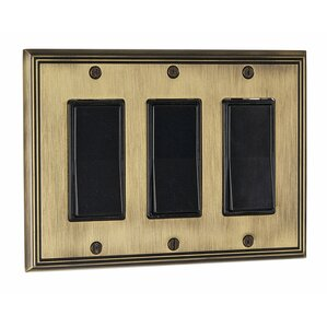 decora triple switch plate