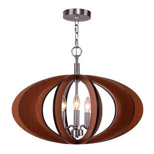 Woodbridge Lighting Fins 3-Light Globe Pendant