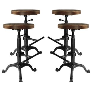 Hoggard Backless Adjustable Height Swivel  Bar Stool - set of 4 (Set of 4) by Williston Forge