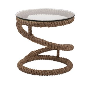 Highland Dunes Fontayne Jute Rope End Table