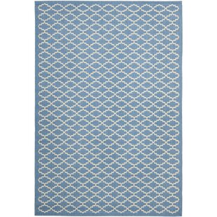 Bacall Blue / Beige Indoor/Outdoor Area Rug