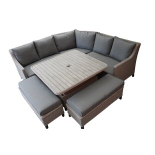 Hughley 8 Seater Rattan Corner Sofa Set By Sol 72 Outdoor