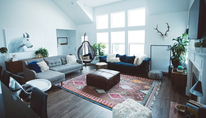 Cara Loren\'s Cozy and Eclectic Living Room | AllModern