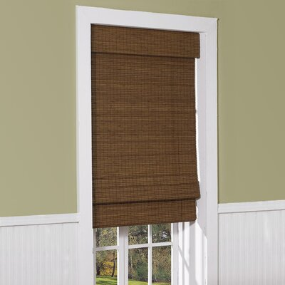 Cordless Semi-Sheer Brown Roman Shade Bay Isle Home