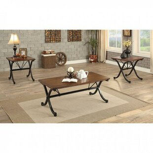 Gracie Oaks Calliope Transitional 3 Piece Coffee Table Set