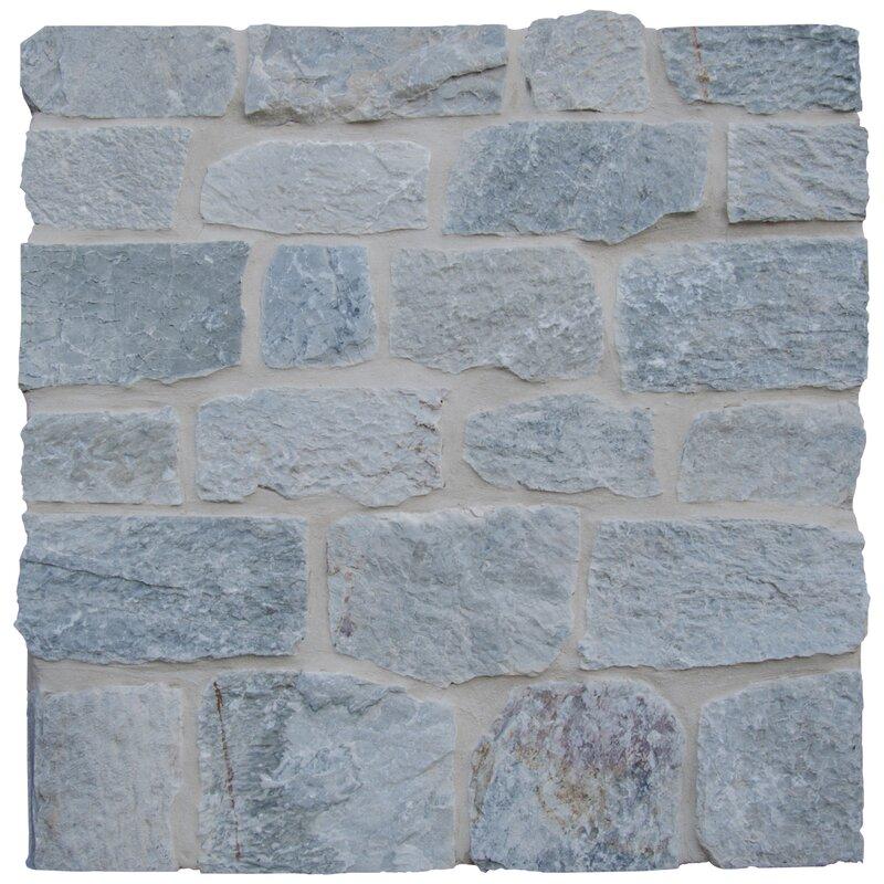 Temple Loose Veneer Limestone Splitface Tile In Gray