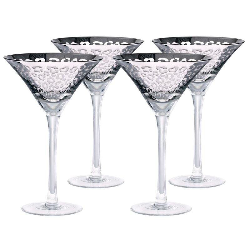 Leopard 8 oz. Martini Glass