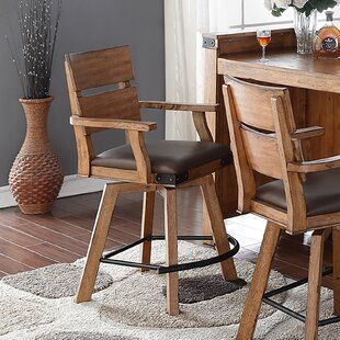 Purchase Aon 24 Bar Stool (Set of 2) by Loon Peak Reviews (2019) & Buyer's Guide
