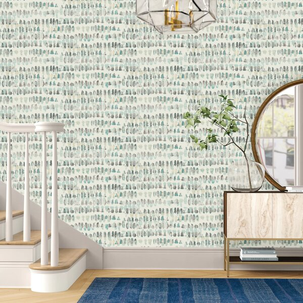 Photo Heather Connect the Dashes 27' L x 27 W Wallpaper Roll byFoundstone™