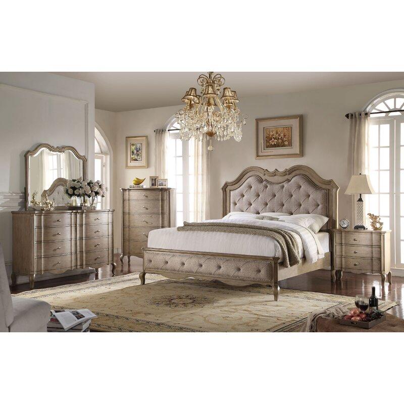 Anatolio Tufted Platform Configurable Bedroom Set