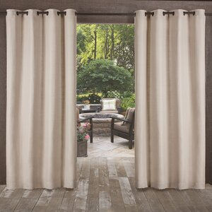Lythrodontas Heavy Textured Solid Outdoor Grommet Curtain Panels (Set of 2)
