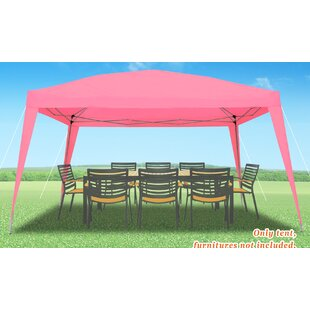 Wedding Party 10 Ft. W x 9 Ft. D Steel Pop-Up Canopy by Strong Camel