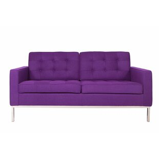 LeisureMod Lorane Loveseat