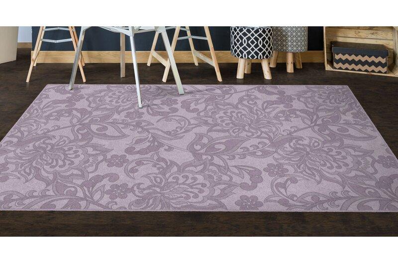 Winston Porter Lisbeth Traditional Jacobean Floral Purple Area Rug Reviews Wayfair Ca